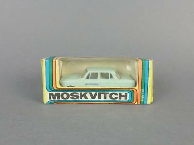 Antique Soviet Russian Metal Moskvitch 412 Car Model in Original Box Scale  1:43