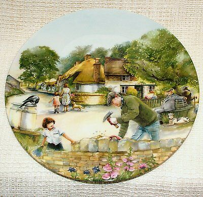Royal Doulton Bradford Exchange PLATE Old Country Crafts DRY-STONE WALLER