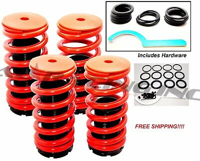 Honda Accord 98-02 Red Suspension Coilovers Lowering Springs Kit w/ Scale NEW