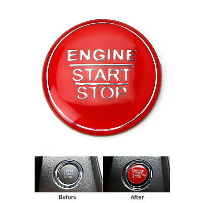 Red Keyless Engine Push Start Button Cover For Toyota Camry Tacoma Prius Avalon
