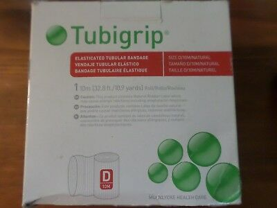 Tubigrip Elasticated Tubular Bandage Size D/10M/Natural - New