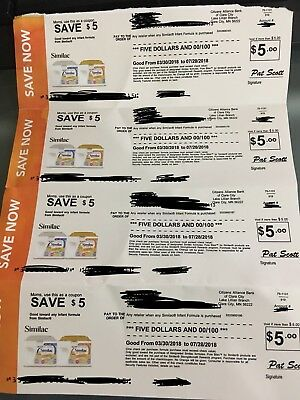 $20 In Similac Coupons ($5 X 4) Good For Any Similac Formula.