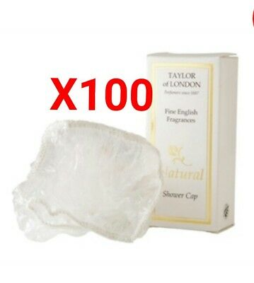 Box Of 100 Taylor Of London Natural Shower Cap