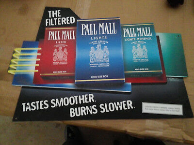 Pall Mall The Filterred Tastes Cigarettes King Size Box Tobacco Metal Sign