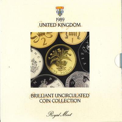 United Kingdom 1989 Brilliant Uncirculated Coin Collection Royal Mint Original