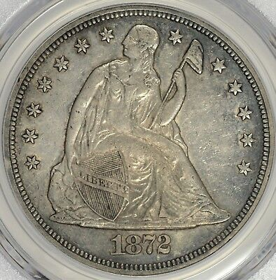 1872 Seated Liberty Dollar PCGS XF45 #API0618