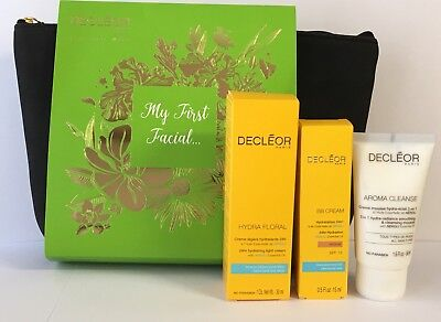 DECLEOR My First Facial Set: Hydrating Floral Light BB Cream Aroma Cleanse Bag