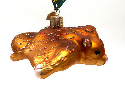 Old World Christmas Brown Flying Squirrel Glass Ornament w/OWC Box