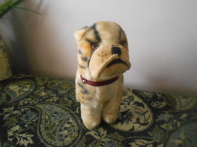 Vintage Antique Mohair Toy Dog Bulldog Collectible Japan