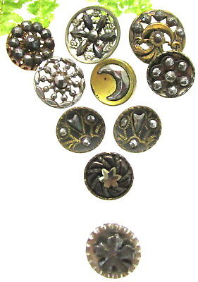 Gorgeous Lot Of Victorian Cut Steel Buttons P3