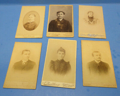 Antique German B&W 1870's to 1900's  photograph (Lot of 6 Photo's)