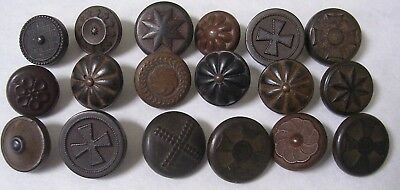 18 Goodyear's Rubber Buttons- Starbursts, Crosses and Flowers