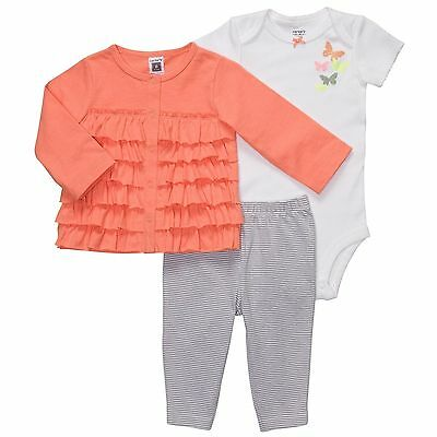 Carter's 3 Piece Outfit Leggings, Body Suit & Cardigan Set ~ NWT