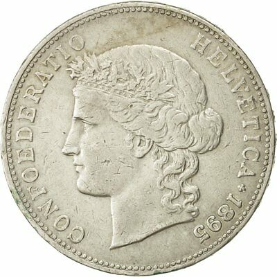 [#473696] Coin, Switzerland, 5 Francs, 1895, Bern, EF(40-45), Silver, KM:34