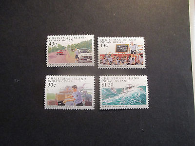 No-1--1991 Christmas  Island  -Policing  On  Christmas  4  Stamps --Mint--Mnh-A1