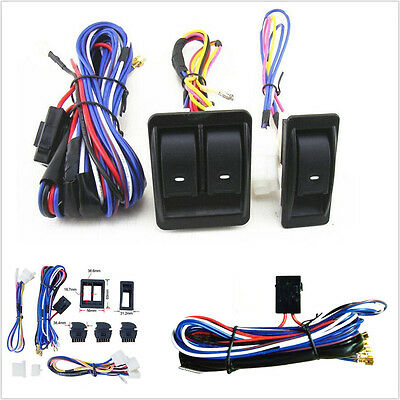 12v universal power window switch kits with wiring harness switch rh picclick com Ford Wiring Harness Kits Automotive Wiring Harness