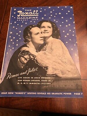 Vintage Rexall Magazine August 1936 Romeo And Juliet