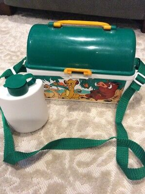 PECOWARE DISNEY LION KING VINTAGE LUNCH BOX With Thermos-Excellent