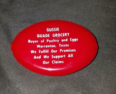 Vintage Gussie Quade Grocery Plastic Coin Purse / Holder