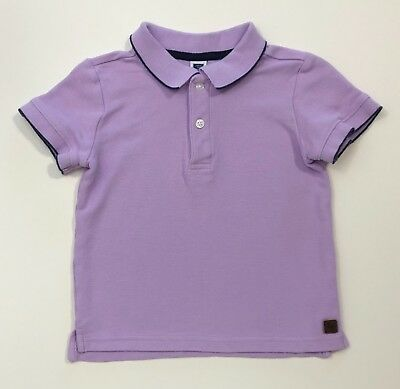 JANIE AND JACK Boardwalk Summer Purple Polo Short Sleeve Top Shirt Size 3 3T