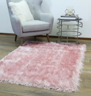Evalee Light Pink Shaggy Rug Soft Thick Shag Carpet FREE DELIVERY