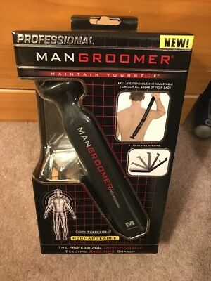 MANGROOMER Professional Do-it-yourself Electric Back Hair Shaver FAST SHIPPING