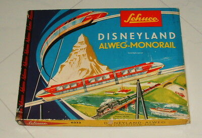 1960s DISNEYLAND SCHUCO MONORAIL RED VERSION COMPLETE IN THE BOX NICE