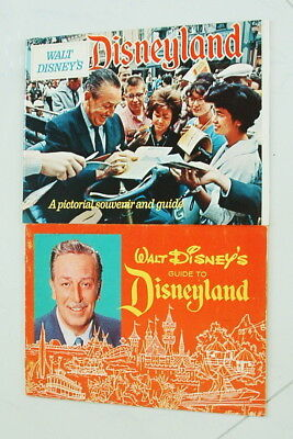 1968 And 1973 Disneyland Set Of 2 Pictorial Guides Nice Complete