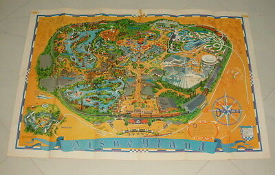 Disneyland 1968 Large 30 Inch By 44 Inch Souviner  Park Map