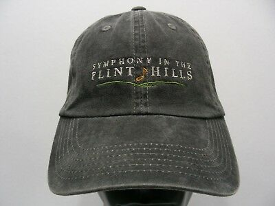 Symphony In The Flint Hills - Faded Style - One Size Adjustable Ball Cap Hat!