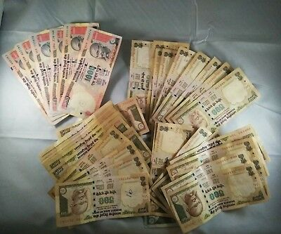 24,000 Indian Rupees Bank Notes Gandhi Discontinued 24k Paper currency retired