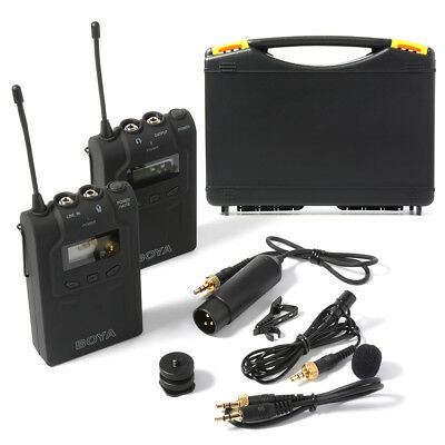 BOYA BY-WM6 Wireless Lavalier Microphone System para DSLR Camera Camcorder LF731