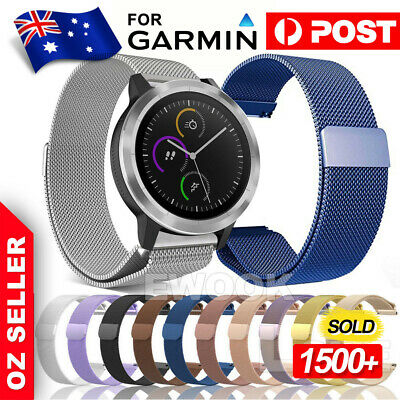 Magnetic Milanese Stainless Wrist Band Wristband Strap For Garmin Vivomove HR
