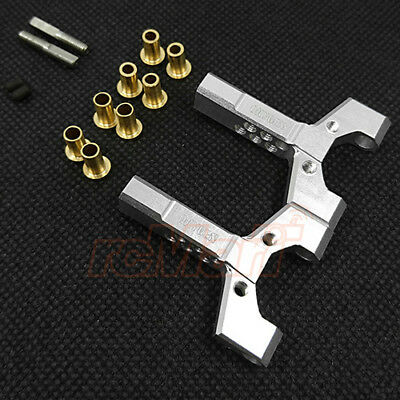 OXYGEN Aluminum Universal Fit Short Slip Y-Arm 2pcs Silver RC Car Drift #00502S1