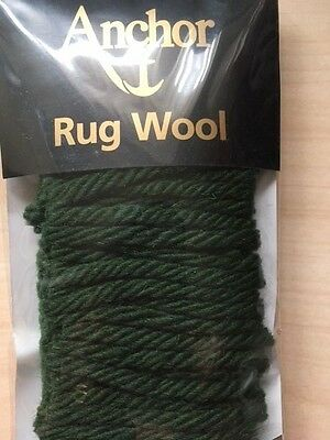 Precut Anchor Rug wool - 160 pieces - 100% wool - no. 22 green