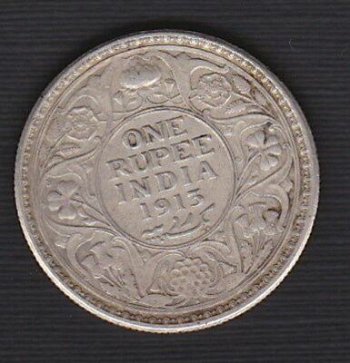 1913 BRITISH INDIA - ONE RUPEE, KING GEORGE V reign - Argento SILVER - Nice Coin