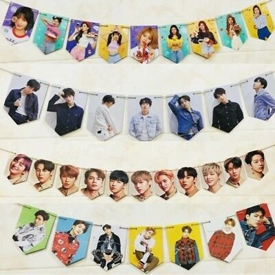 KPOP EXO BTS Bangtan Boys WANNA ONE GOT7 BLACKPINK SEVENTEEN Hängend Banner