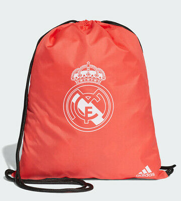 Real Madrid Adidas Sacca Rucksack Gymsack Borsa tg Unisex 2018 19 Rosso Corall
