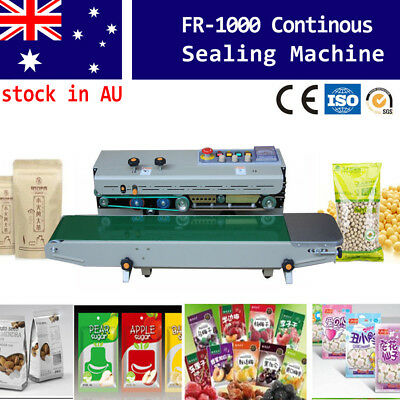 Horizontal Continuous Sealing Machine Automatic Plastic Bag Package Band Sealer
