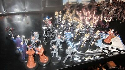 Star Wars miniatures 20 yuuzhan vong minis with cards,