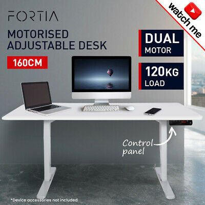 150cm Height Adjustable Standing Desk Electric Motorised Sit Stand Up Office WO