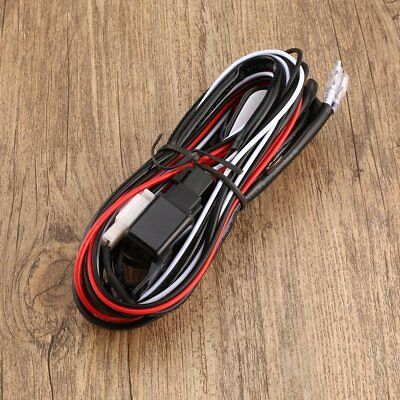 2 Way LED Work Driving Light Bar Wiring Kit Harness Loom Switch Relay 12V 40A RR