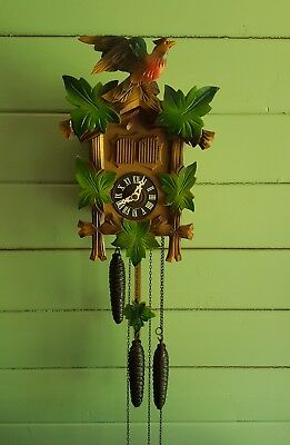 Cuckoo Clock Bachmaier & Klemmer ,swiss Musical Movement,germany Us Zone