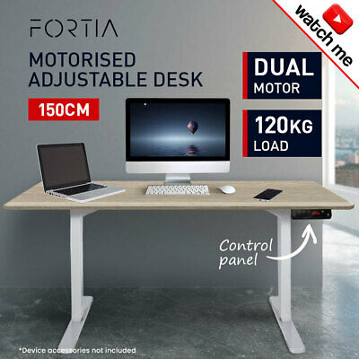Height-Adjustable Standing Desk Electric Motorised Sit Stand Up Office 160cm WT