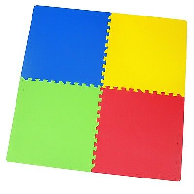 Interlocking Soft Foam Play Mats Kids Bedroom Playroom 120cm x 120cm