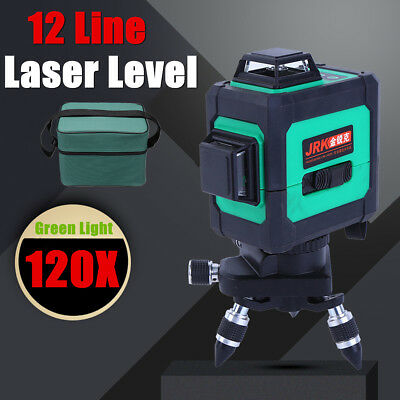 3D 360° Laser Level Auto Self Leveling Vertical Horizontal Cross Improved Laser