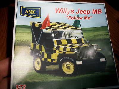 "1/72 AMC 72M05, AMC72M05 Willys Jeep MB ""Follow Me"".. Resin Kit sold out! OVP"