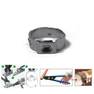 70Pcs 5.8-21.0mm Single Ear Plus Fuel Air Hydraulic Hose Clamps