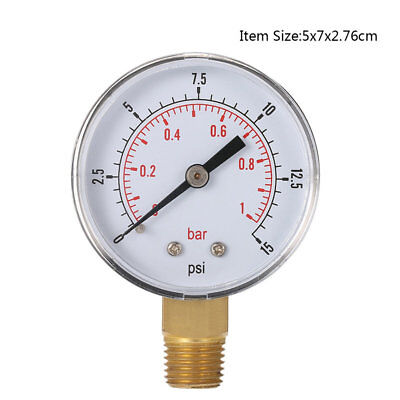 Mini Pressure Gauge For Fuel Air Oil Or Water 1/8 Inch 0-200/0-30/0-60/0-15 HM