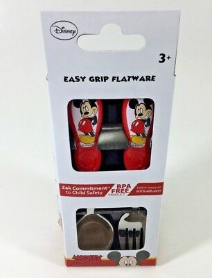 Disney Mickey Mouse Kids Easy Grip Flatware Spoon & Fork Set . Zak Designs